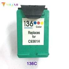 Vilaxh compatible Ink Cartridge replacement For HP 136 Officejet 6213 Deskjet 5443 D4163 Photosmart 2573 C3183