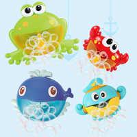Giocattolo Del Bagno Del Bambino Bubble Machine Bubble Frog & Granchio Divertente Bubble Maker Piscina di Nuoto Vasca da Bagno Sapone Macchina Giocattoli per I Bambini del Capretto