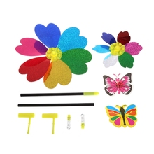 1PC Colorful Sequins Windmill Wind Spinner Home Garden Yard Decoration Kids Toy