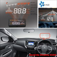 Car Computer Screen Display Projector Refkecting Windshield For Mitsubishi Mirage / Triton 2015 2016 - Saft Driving