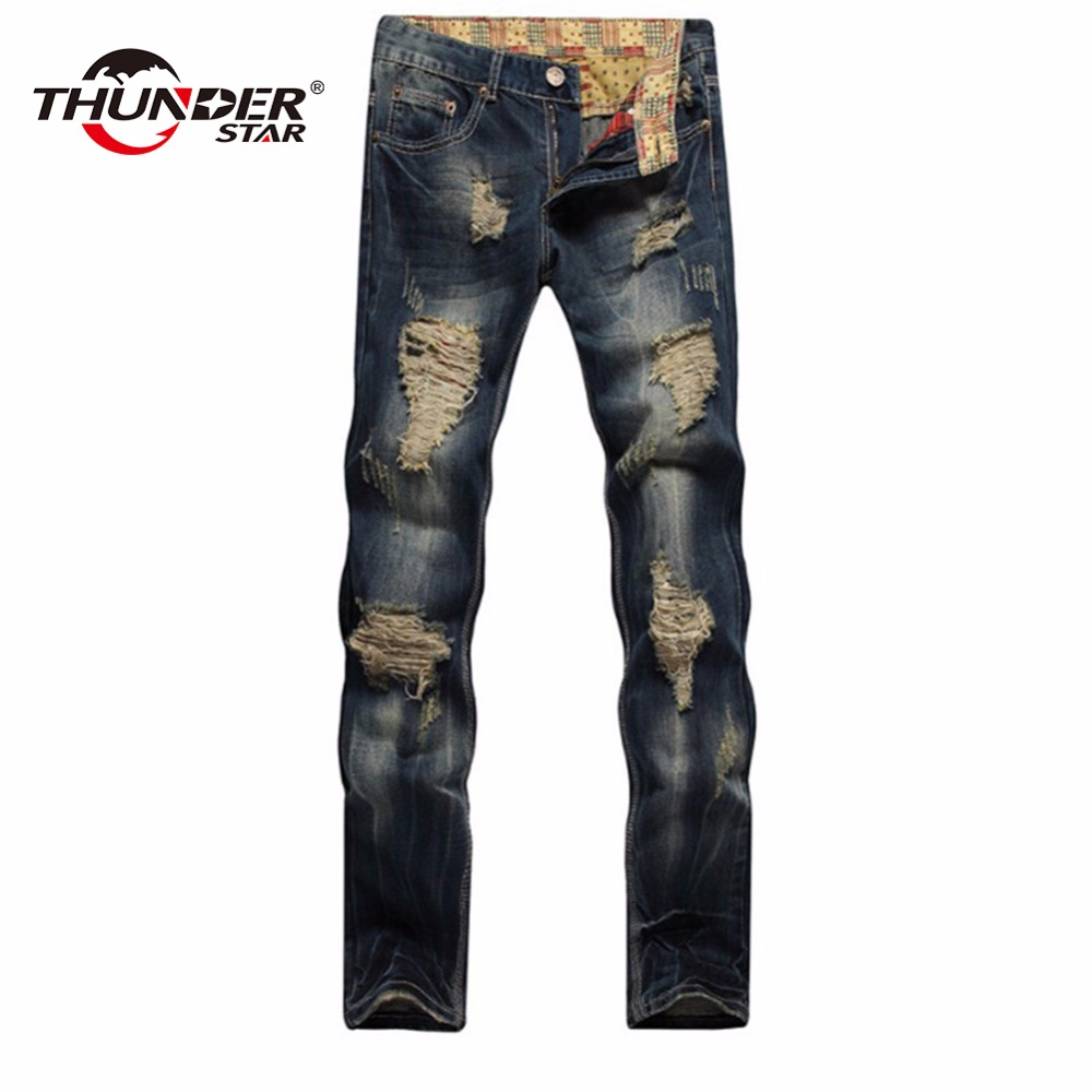 2017 New High quality men's jeans hole Casual ripped jeans men hiphop pants Straight jeans for men denim trousers jeans men 2017 new hiphop men hole jogger pants high quality casual destroyed skinny ruched jeans hole casual pants jogger rock jeans