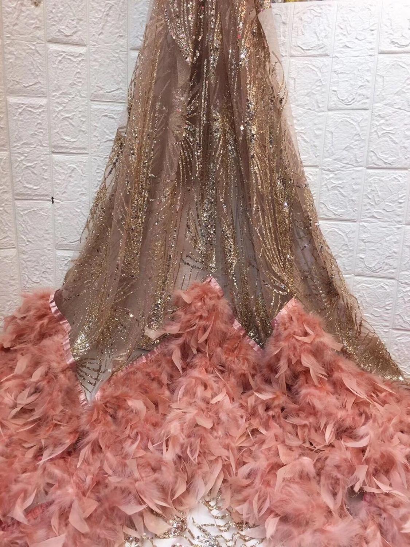 붙어있는 반짝이 패션과 얇은 명주 그물 David 6.3102 파티 드레스를위한 아프리카 반짝이 레이스 원단 5 yard/lot 수 놓은-에서레이스부터 홈 & 가든 의  그룹 1
