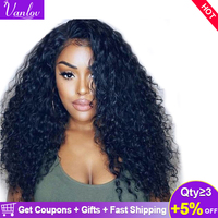 Vanlov Water Wave Lace Front Human Hair Wigs For Women Pre Plucked With Baby Hair Brazilian Front Lace Wigs 150% Remy Wig Humain