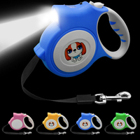 Didog 5M Retractable Dog Leash With Light Extending Puppy Walking Leads Night Safety Leashes For Chihuahua