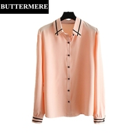 BUTTERMERE 3XL Loose Casual Long Chiffon Shirts Women Long Sleeve Blouse Pink White Runway Elegant Spring