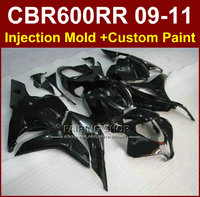 Flat black Motorcycle fairings for HONDA CBR600RR fairing kits 2009 2010 2011 cbr600rr ABS bodykits CBR 600RR 09 10 11+7gifts