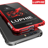 Supper Armor Metal Bumper Case LUPHIE Brand For Huawei Honor 8 CNC Aircraft Aluminum Frame Cover