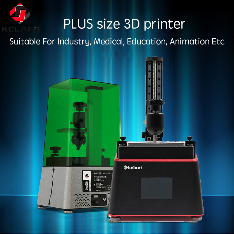 Kelant D100 imprimantes 3D laser UV Photon résine SLA photonique 3.5 ''bureau Impresora 405nm DLP 3d imprimante kit de bricolage impressora