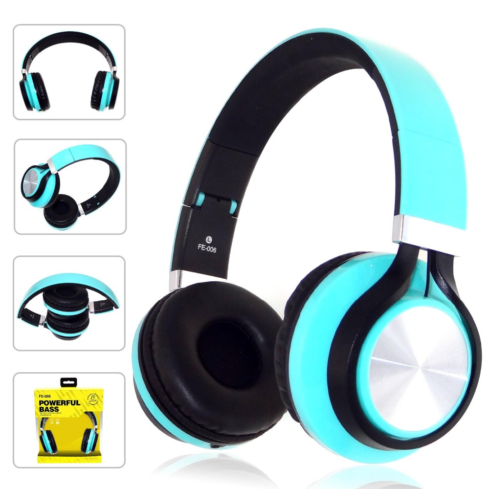 FE-006 Large Earphone Metal Headset Electronic Gifts Piano Line Control Wired Headphones with Mic