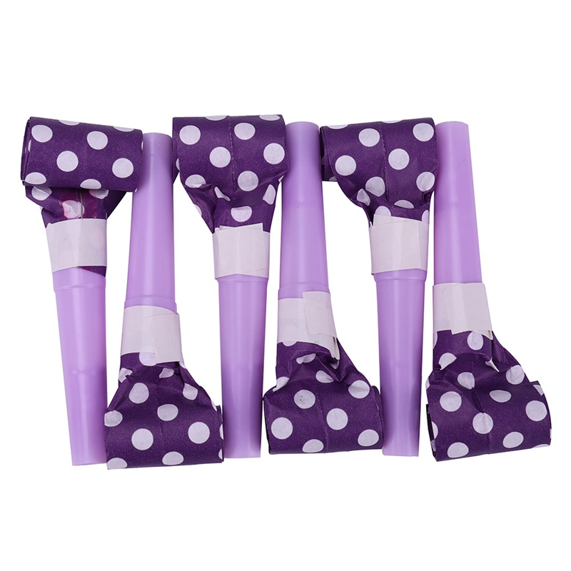 6Pcs Funny Whistles Kids Childrens Birthday Party Noise Maker Dots Blowing Dragon Blowout Baby Birthday gift Wholesales