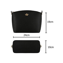 YBYT brand 2017 new small joker leisure Imperial crown shell package high quality women shopping handbags ladies shoulder bags