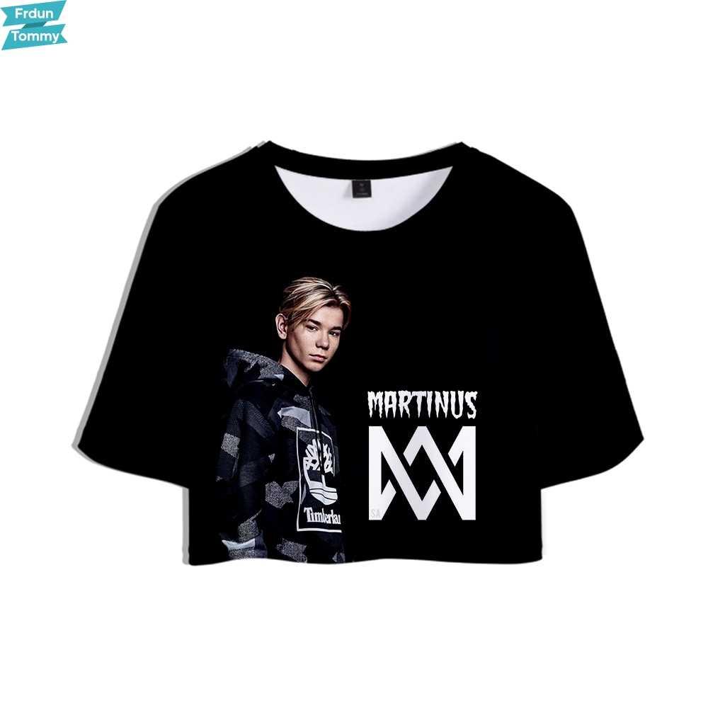 マーカス & MARTINUS 3D プリント女性 Kpop クロップトップスファッション夏半袖 Tシャツ 2019 ホット販売カジュアルストリート T シャツ