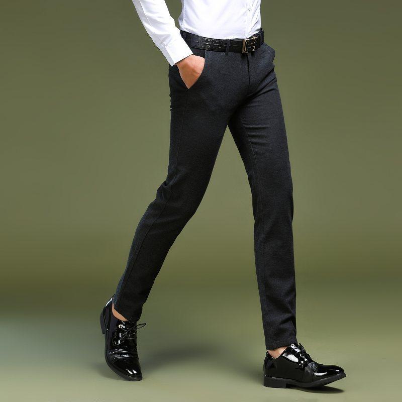 Mens Dress Pants 2018 Formal Men Trousers Office Male High-grade Business Straight Suit Pants Pure Color Casual Thin Dress Pants