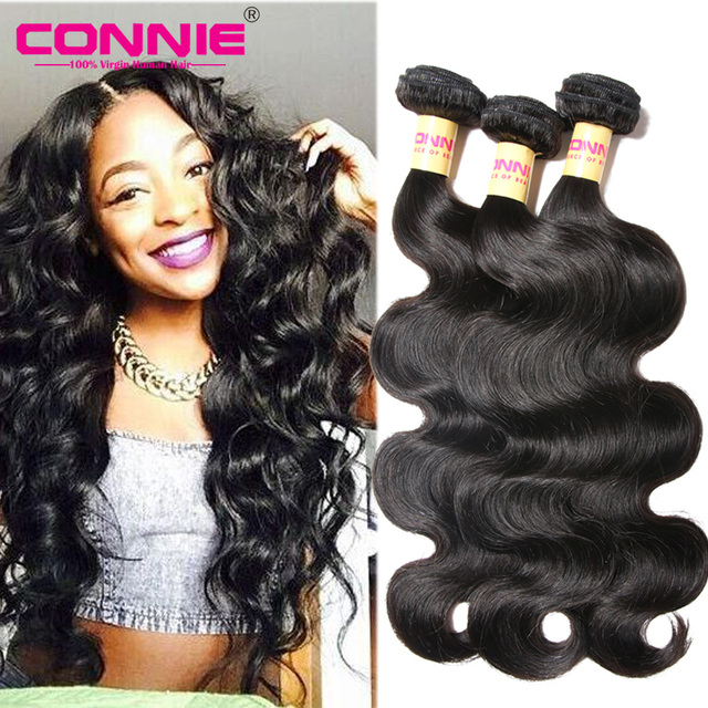 Peruvian Body Wave 7a Virgin Hair 3 Bundle Deals Wavy Connie