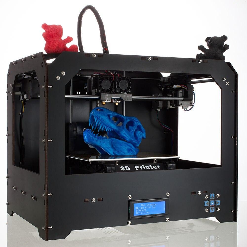 Impresora 3D FDM MK8 3D принтер двойной экструдер алюминиевая платформа Прямая продажа с фабрики