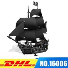 DHL Лепин 16006 Пираты Карибского моря Black Pearl строительный Блоки комплект 4184 прекрасный образования мальчик игрушка для детей игры