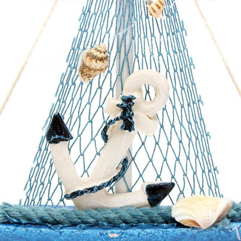 Hölzern Dekoration Cloth Segelboot Modell Flagge ornament Tisch