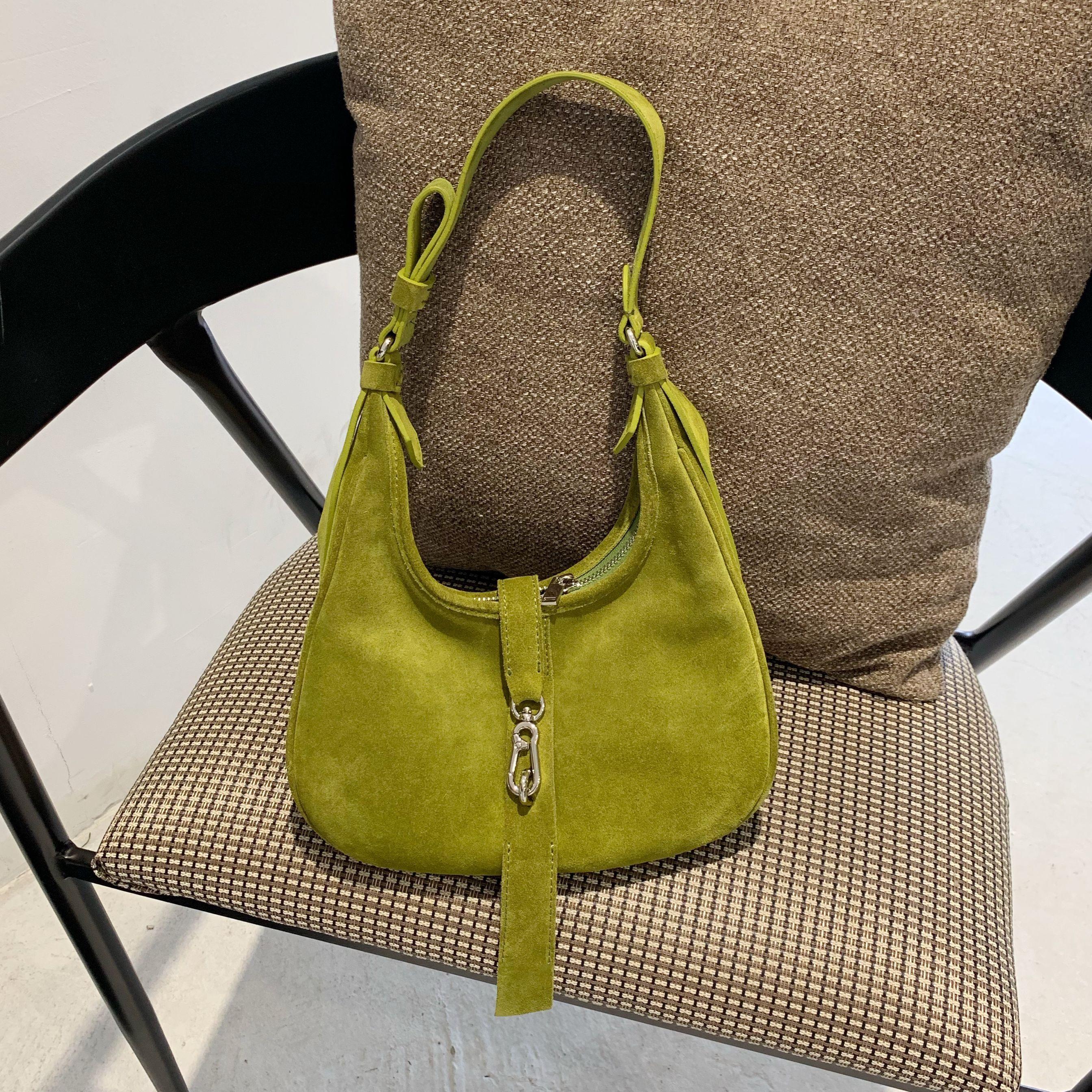Top torby z uchwytami kobiet rozrywka nubuk na co dzień torebka Trendy zamszowe zielona torebka darmowa wysyłka projektant torba na ramię w Torebki na ramię od Bagaże i torby na  Grupa 2