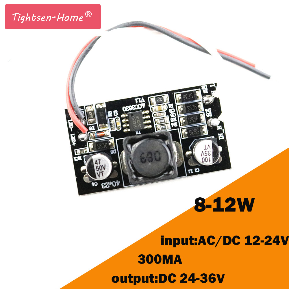 8-12W <font><b>LED</b></font> Built-in <font><b>Driver</b></font> 300mA (8-12)x1W DC 24V~36V <font><b>Led</b></font> <font><b>Driver</b></font> 8W <font><b>9W</b></font> 10W 11W 12W Power Supply AC/DC 12-24V for DIY <font><b>LED</b></font> light image