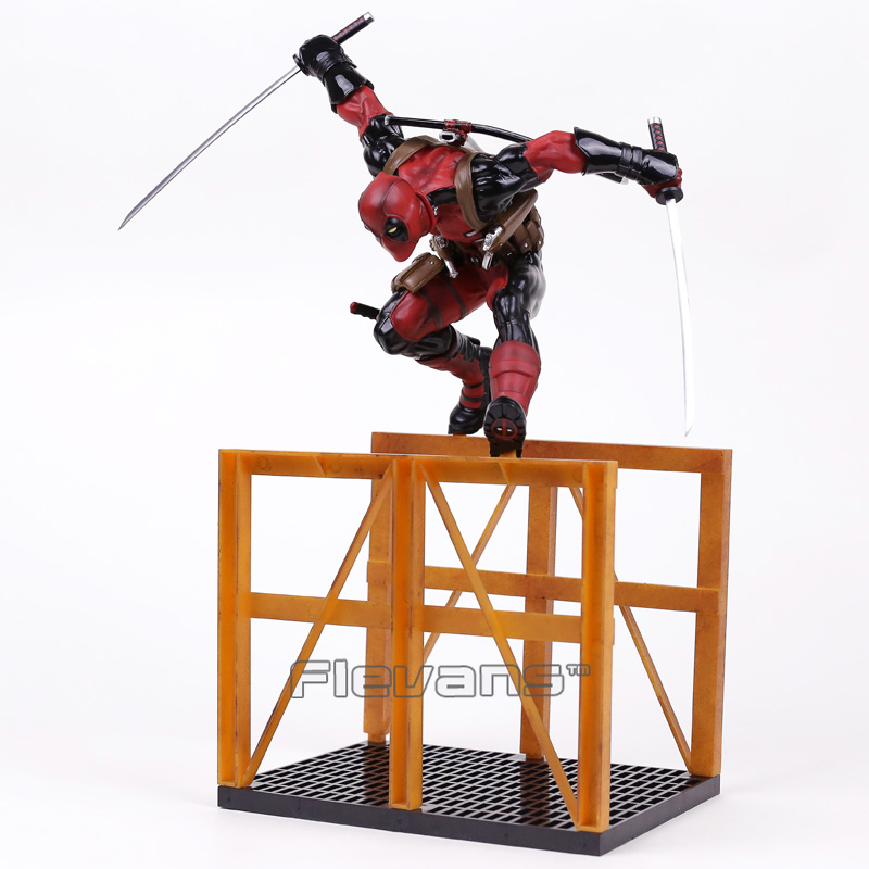 Crazy Toys Deadpool 2 Hurdling Ver. 1/6th Scale Statue PVC Figure Collectible Model Toy 40cm crazy toys variant 1 6 scale painted figure x men real clothes ver variable doll pvc action figures collectible model toy 30cm