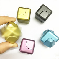 New Metal Square Spinner Fidget Toy EDC Hand Spinner Hybrid Hand For Autism And ADHD Cube