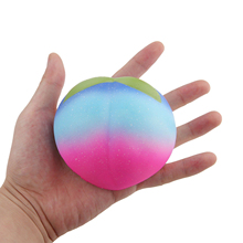 Фотография Rainbow Color 8CM Soft Squishy Peach PU Squeeze Simulation Slow Rising Mobile Phone Straps Toy Kids Gift