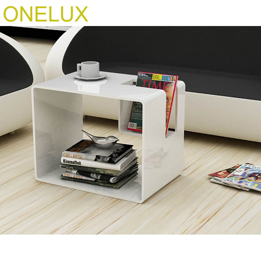 Waterfall Acrylic Sofa Side Magazine Table,Lucite Samll Tea Tables,Perspex Nightstand/Bedside Tables hollowed acrylic book magazine coffee tea table lucite plexiglass engraved side end sofa corner tables one lux