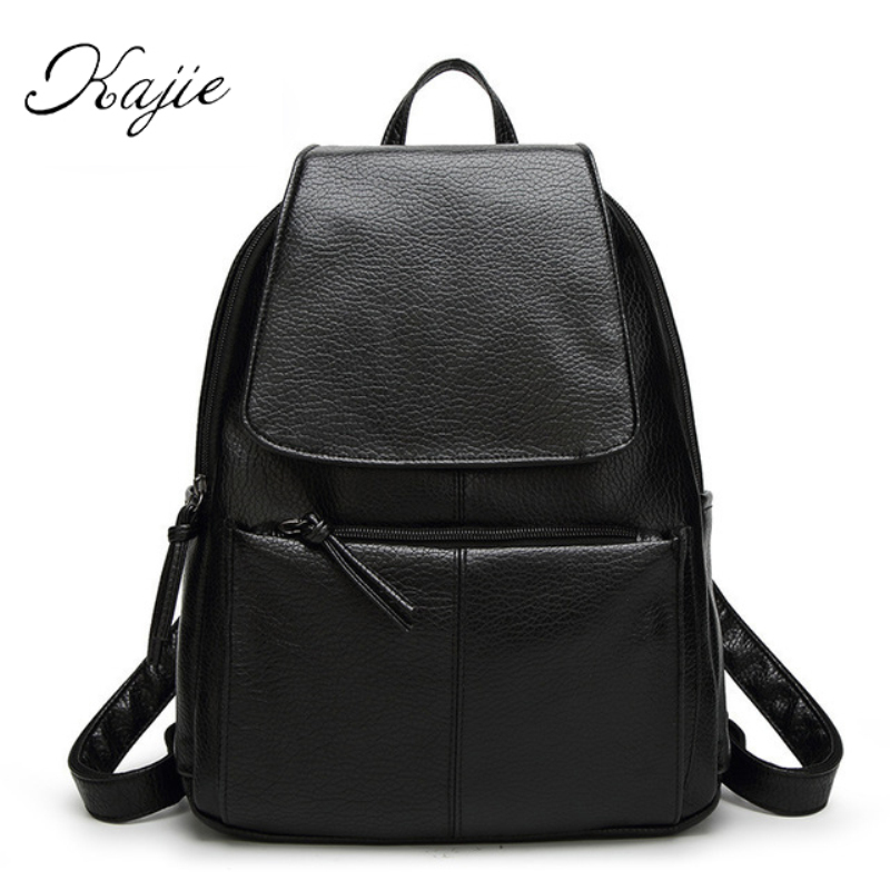 Kajie Pu Skin Leather Large Capacity Student Fashion Women Backpacks For Teenage Girls Sac A Dos Travel Feminine Bag Mochila kajie pu skin leather large capacity student fashion women backpacks for teenage girls sac a dos travel feminine bag mochila
