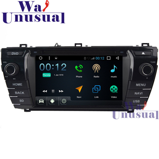 """WANUSUAL 7""""Android 6.0 Car DVD Player for Toyota Corolla 2014 with GPS Navitation Wifi BT Quad Core 16G TV 3G 1024*600 Maps"""