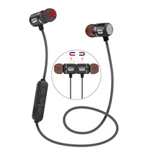 Magnetic Bluetooth Earphone In-Ear Earbuds Wireless Sports Bluetooth 4.1 Headset With Mic For iphone Android