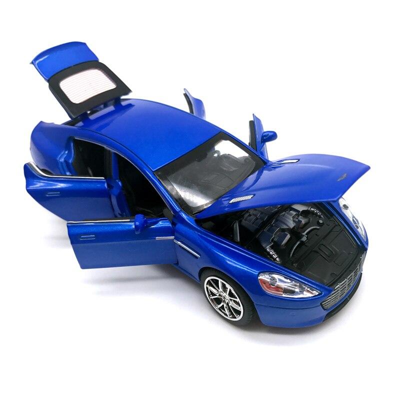 Aston Matin Diecast Metal Voiture Jouet 1:32 Pull Back Alliage de Puissance De Voiture avec 6 Portes peut Ouvrir Auto Modèle Collection voiture Oyuncak pour Garçon
