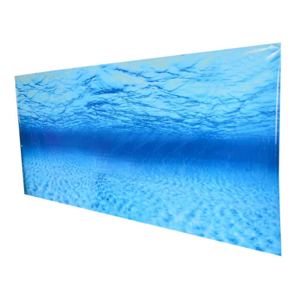 60*50 Cm 3D Tangki Ikan Stiker Dinding Biru Laut Dekoratif Stiker Dinding Latar Belakang Akuarium Seni Decal Rumah dekorasi