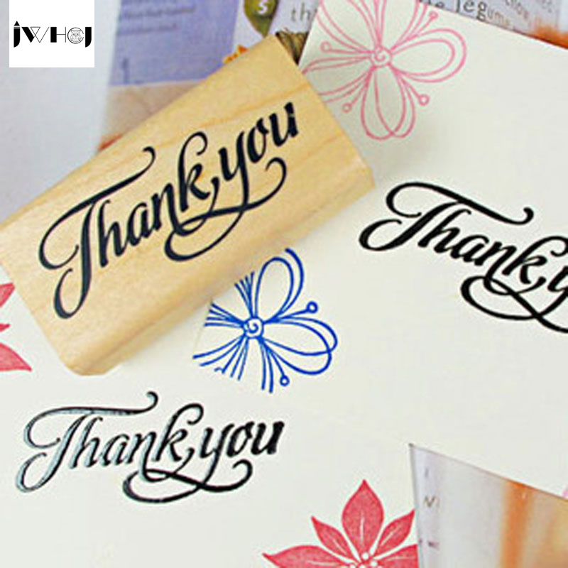 JWHCJ Creative arts font thank you&Love youwooden stamps diy Hand made decal stamps for scrapbooking Photo Album Craft gifts упаковка для кондитерских изделий 240 thank you diy