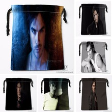 Custom Ian Somerhalder Drawstring Bags Travel Storage Mini Pouch Swim Hiking Toy Bag Size 18x22cm#0412-03-20