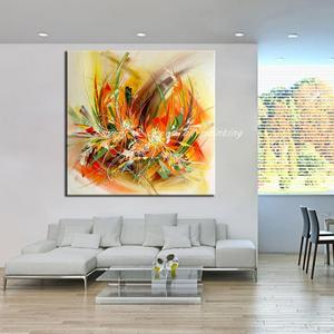 Image 4 - Mintura Modern Artist Hand Painted Abstract Flowers Oil Painting On Canvas Wall Painting Wall Picture For Living Room Home Decor
