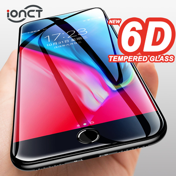 6D Full Cover Tempered Glass For iPhone 6 glass 6s 7 8 Plus X XR XS MAX Screen Protector iphone 7 glass Curved Edge Protection 1