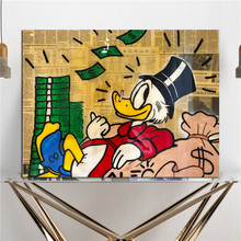 Monopolyingly Happy Scrooge Mcduck Canvas Posters Prints Wall Art Painting Decorative Picture Modern Home Decoration