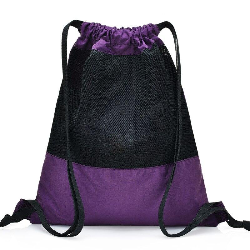 New Korean fashion leisure sports bag ladies shoulder bag washed cloth solid color women 39 s shoulder bag in Backpacks from Luggage amp Bags
