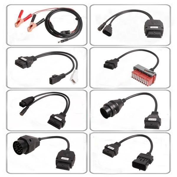 Prix pour Ensemble complet 8 câbles de voiture pour AutoCom CDP Pro OBD2 Connecteur De Diagnostic Pour Multi-marques Voitures OBDII adaptateur câble