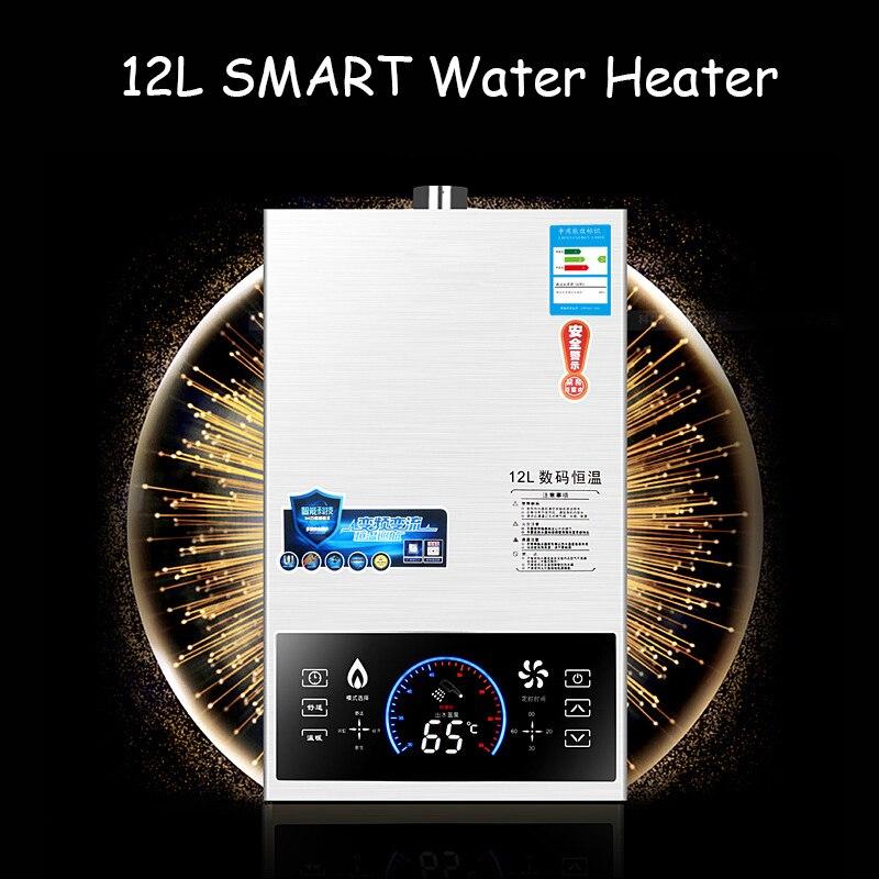 Più nuovo SMART controllo della temperatura Costante forte emissione di Tipo Lgp Istante/Tankless 12L LGP Gas Propano Riscaldatore di Acqua Calda