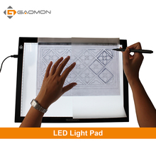 GAOMON GB4 5MM Ultra-thin Light Pad Light box Micro USB Tracing Board Drawing Tablet for Sketching and Copying with B4 Size