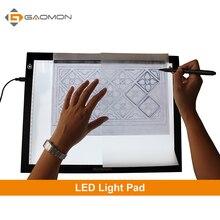 GAOMON GB4 5 MM Ultra-mince Lumière Pad boîte à Lumière Micro USB traçage Conseil Dessin Tablet pour le Dessin et La Copie avec B4 taille