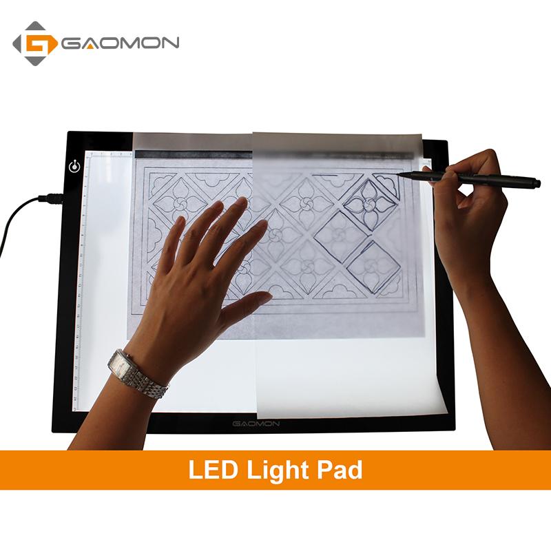 Prix pour Gaomon gb4 5mm ultra-mince lumière pad boîte à lumière micro usb traçage Conseil Dessin Tablet pour le Dessin et La Copie avec B4 taille