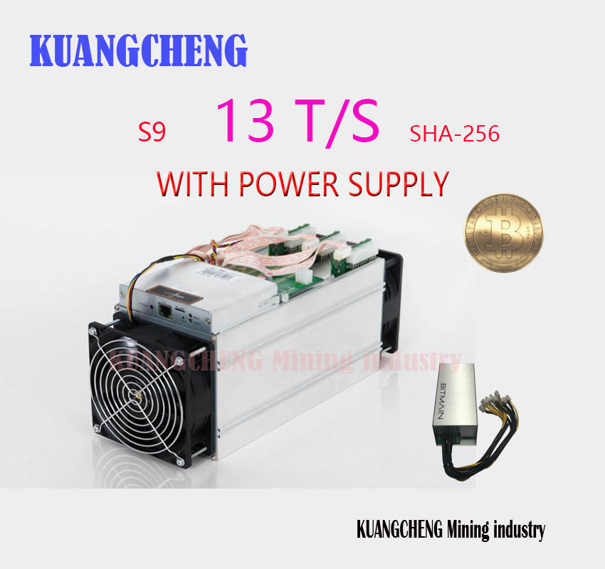 KUANGCHENG NEW BITMIAN S9 13TH / S (with APW3 ++ 1600W Miner's Power) Asic Miner Bitcoin BTC Mining AntMiner S9 16nm Btc Miner's kuangcheng brand new miner avalon 841 13t sha256 asic btc bitcoin mining machine a841 13th s