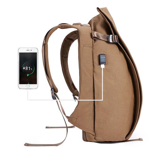 137ab59662 KALIDI 17 inch Laptop Backpack for Teenage Anti Theft Backpack Waterproof  Travel Laptop Bag USB Charger Canvas Backpack Men