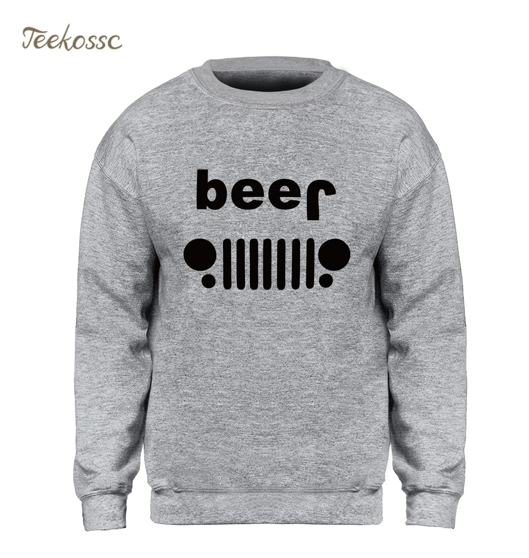 Beer Off Roading Funny Drinking Hoodie Men Slim Sweatshirt Pullover Sweatshirts New Brand Winter Autumn Fleece Warm Sportswear