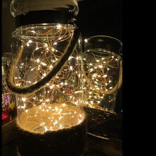 20 String LED Warm Color Copper Wire Lights For Party Table Decor