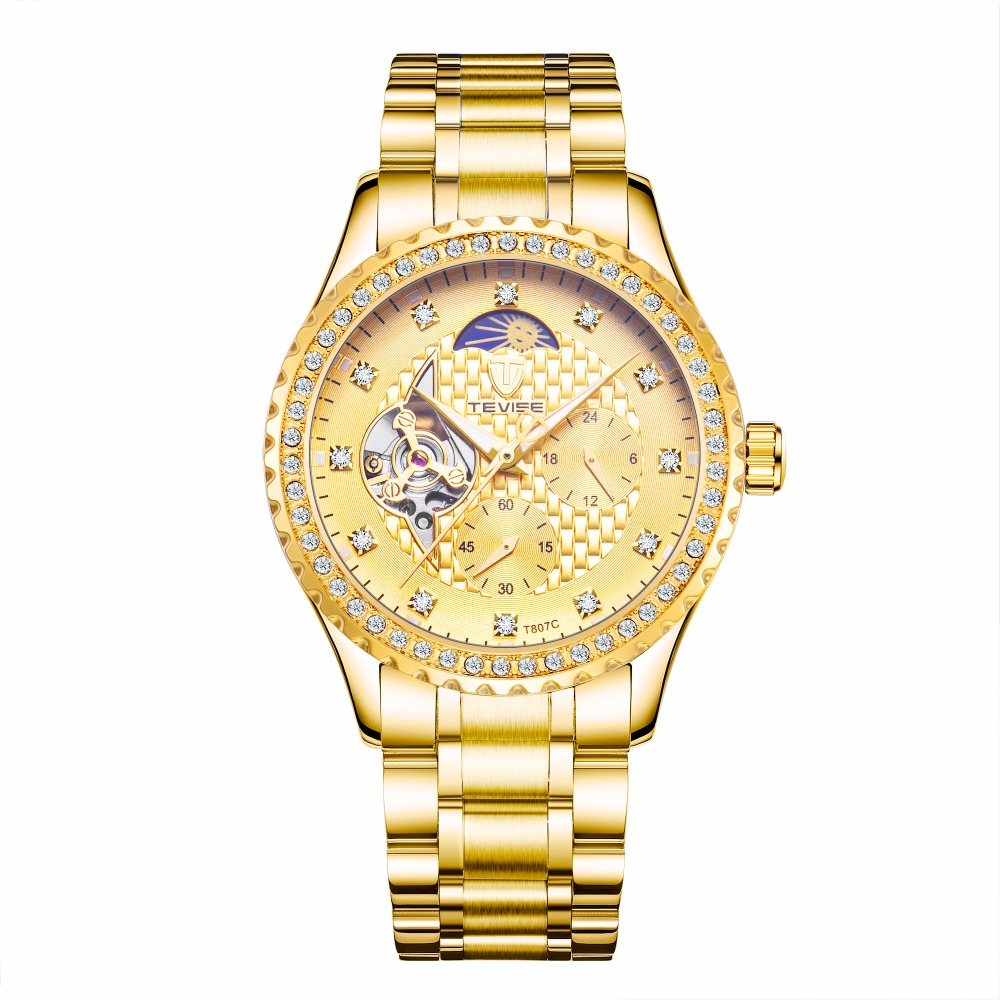 TEVISE Watch Men Watches Top Brand Luxury Relogio Masculino Stainless Steel Mechanical watch Male цена
