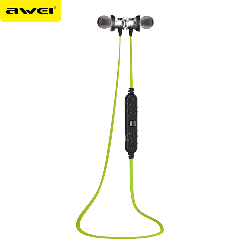 Original AWEI A980BL Bluetooth Wireless Sport Music Earphones Hifi Stereo Noise Cancelling Headsets Auriculares for Mobile Phone
