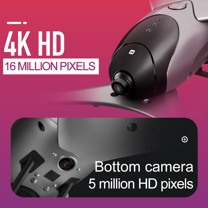 Profession Drone 4K HD Video Dual camera 16mp / 5.0mp RC Drone Flow Positioning WIFI FPV Quadcopter Altitude Hold Auto Return